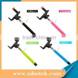 Wireless bluetooth selfie shutter stick with rechargeable,extendable selfie stick monopod for smartphone