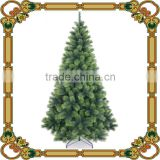 Wholesale artficial 210cm PET two-tone green Christmas tree/High quality pine needle Christmas tree