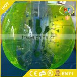 Professional supplier body zorbing loopy ball,soccer bubble inflatable ball Human Bubble bumper Ball for sale
