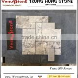 Grey Marble Polished Roman Pattern Mosaic Tiles