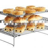 Kitchen 3 tier Stackable Cooling Rack tray Pies food bakery chrome plated iron Wire Bread Cooling Rack