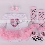 2015 children Chrismas baby autumn winter tutu yarn bodysuit& headbands &shoes and leg warmer sets ( 4 in 1)