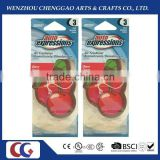 good quality cherry shaped car paper air freshener / paper perfume with long lasting smell