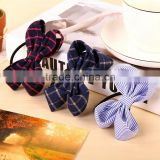 New Fshion Elastic Hair Band Korean Style Canvas Rope Ring Fabric Bow Hair Ring for Woman Hair Accessories