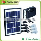 Energy saving 5W solar panel12V DC Solar LED light 4AH battery solar lantern light with USB phone charger