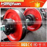 Hot Forged bridge crane rail wheels rail forged steel wheel