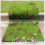 fire proof artificial green grass carpet moss mat for showcase plant wall decoration made in China