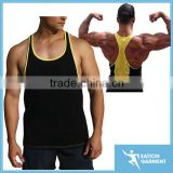 cotton printed racer back singlet fitted gym singlet cheap