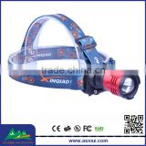 XML T6 1800 LM Waterproof LED High Power Zoom Headlamp with Diffusers