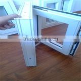 Shandong pvc white sliding window/ Double glass PVC sliding windows/ windows and door pvc profile