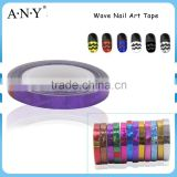 ANY Nail Art DIY Using Wave Nail Art Stripping Sticker Purple Color