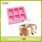 6 Cavities Plain Basic Rectangle Silicone Soap Mold                                                                         Quality Choice