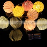 christmas party decoration outdoor indoor solar battery Paper lanterns fairy string led light