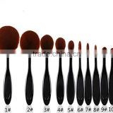 private label cosmetics Stock cheap price toothbrush shape foundation makeup brush with ultra soft hair
