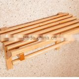 Handmade towel rack wood material made in china