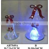Hand Painted Glass bell with LED Light with ornaments inside