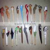 Animal creative ballpoint pen wood Ball point pens handmade sculpture student ball-point