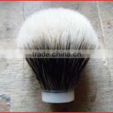 bleeched sivertip badger hair shaving brush knots, super silvertip badger hair immitation