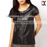 wholesale cheap sexy women leather t shirt printing machine JXH013                                                                         Quality Choice