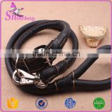 Premium Brown Soft Artificial Leather Dog Leash and Adjusted Collar Pet Training Metal Buckle                                                                         Quality Choice