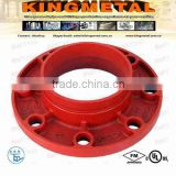 "2""-10"" Casting Iron grooved pipe fitting flange adaptor of ANSI CLASS 125/150."
