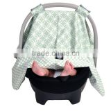 warm car seat covers with design with bamboo and flannel double layer