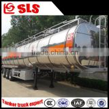 Semi trailer manufacturer tri-axle flammable liquid tanker semi trailer with air bag suspension
