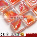 IMARK Iridescent Square Glass Hot Melt Recycle Glass Mosaic Swimming Pool Tiles