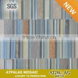 gold leaf glass mosaic tile ,natural slate brick wall tile