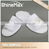 Disposable Plush hotel open slippers for guests eva non slip shower slippers