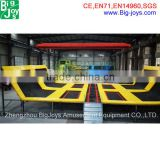 Factory price commercial amusement equipment indoor trampoline for sale