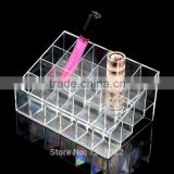 2016 Hot Sale Lipstick Shelf 24 Grid Squares Holder Display Showcase Stand Cosmetic Organizer Makeup Case
