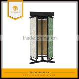 wholesale sample room metal granite stone slab product display rack