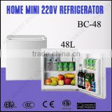 48L 220V A+ Domestic or supermarket use cheap mini refrigerator price
