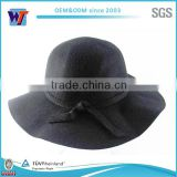 Classical black felt hillbilly hat bodies wool felt hat