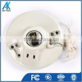 porcelain e26 e27 lamp socket , chandelier lamp holder with cord switch