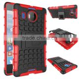 Cell phone accessory 2 In 1 Pattern Silicone and PC Rugged Hybrid 2-in-1 protective case for nokia lumia 950 xl china suppliers