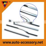 Plastic chrome car decoration moulding trim strip line for Ford F150 door weather strips