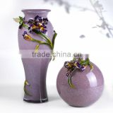 RORO Felicity iris enamel coloured glass decorative vase flower receptacle