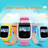 Real GPS WiFi LBS Tracker Kids Smart Wrist Watch for GPS GPRS GSM System with Two Way Communication/SOS Surveillancen/Alarms