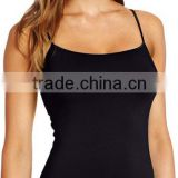 Fashional cool vest tank top in 90% nylon for women oem service womens clothing camisole ladies