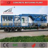 25m3/h -100m3/h YHZS Series Mobile Ready Mix Concrete Batching Plant for sale made in China