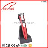 Professional Hair clipper with power motor 220v wireless salon ceramic moving pro blade face trimme with stand