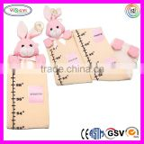 C311 Cuddly Height Measuring Baby Plush Ruler Toy Pink Bunny Yellow Charter Soft Ruler