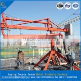 Concrete spreader with Horizontal reach 12/15/18/20m/concrete placing boom