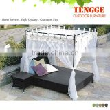 modern rattan double sun lounger beds factory 109012