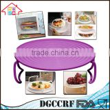 NBRSC Kitchen Plastic Multi Function Microwave Tray Food Dish Plate Stand Rack Wholesale