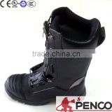 Military anti-cold leather built-in steel to protect the toes Fire resistant safety boots