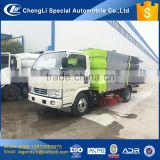 China CLW 5cbm 5000L road sweeper truck 4cbm dust tank and 1.2cbm water tank mounted with 57kW sweeeping engine
