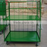 Warehouse large rolling metal wire storage container